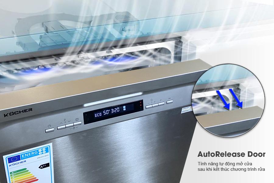 Máy rửa bát Kocher KDEU 8835 Semi rửa được 15 bộ bát đĩa Châu Âu (Hàng Chính Hãng)