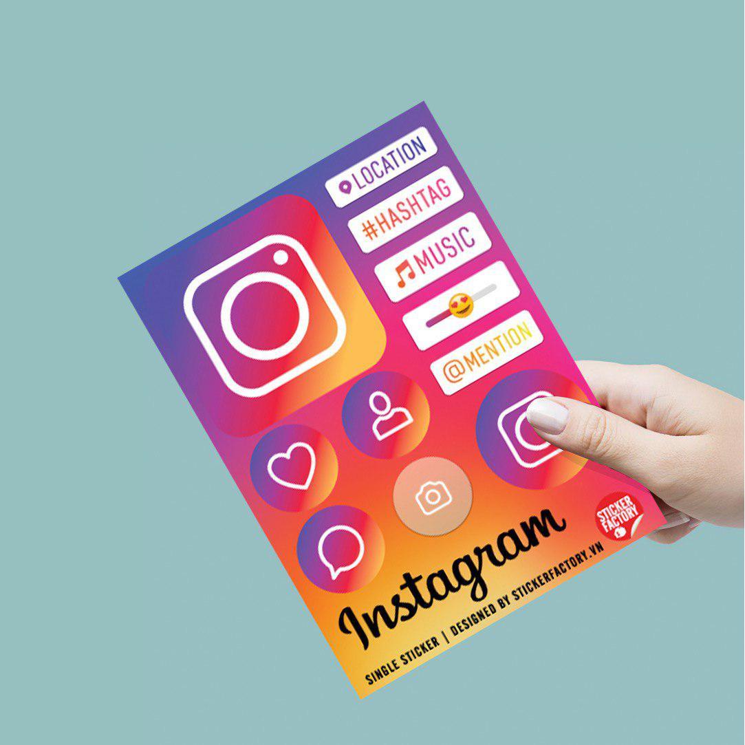 Instagram - Single Sticker hình dán lẻ