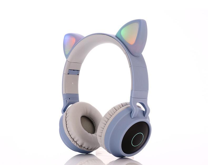 Tai Nghe Chụp Tai  Bluetooth BT028C Thiết Kế Tai Mèo Trẻ Trung, Cá Tính, Chống Ồn Cực Tốt.