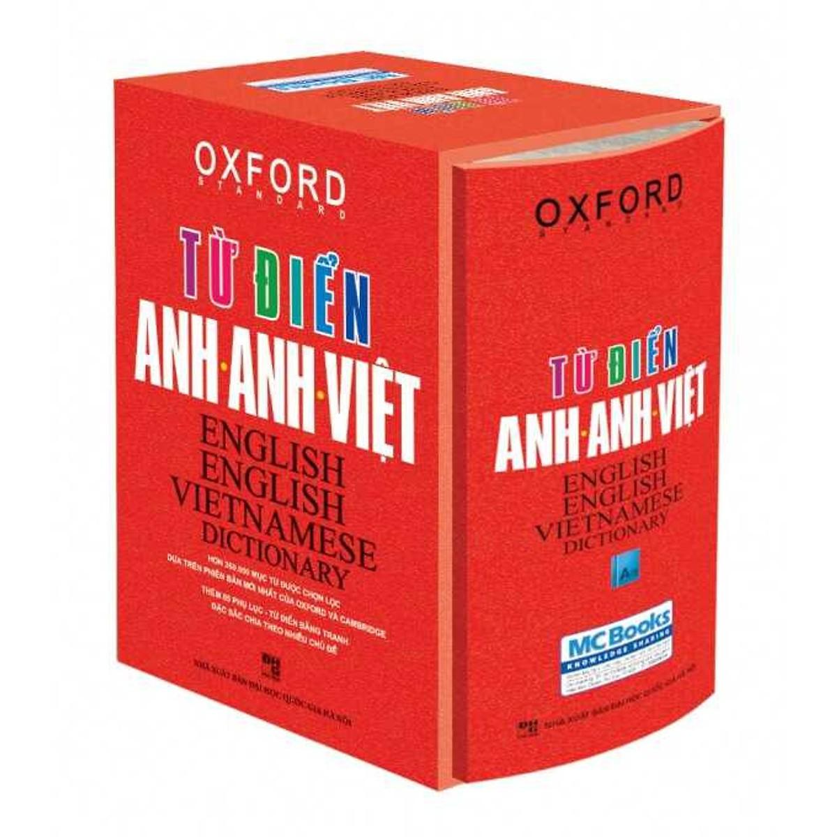 Từ điển Oxford Anh Anh Việt (tặng sổ tay mini dễ thương KZ)