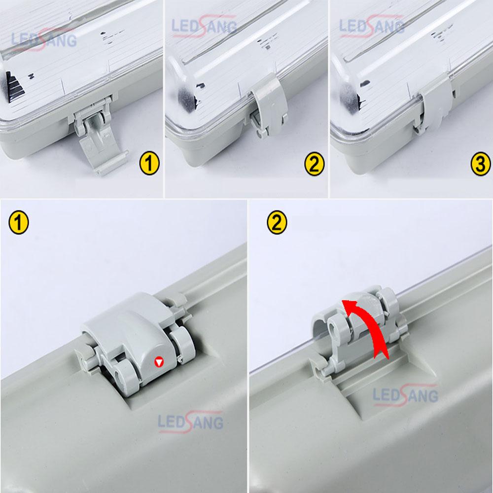Máng đèn led - Máng đèn led chống thấm - Máng đèn chống nước - Máng đèn led chống ẩm -  Máng đèn ngoài trời - Máng đèn cho kho lạnh AD-C1-60 AD-C2-60 AD-C1-120 AD-C2-120 LEDSANG