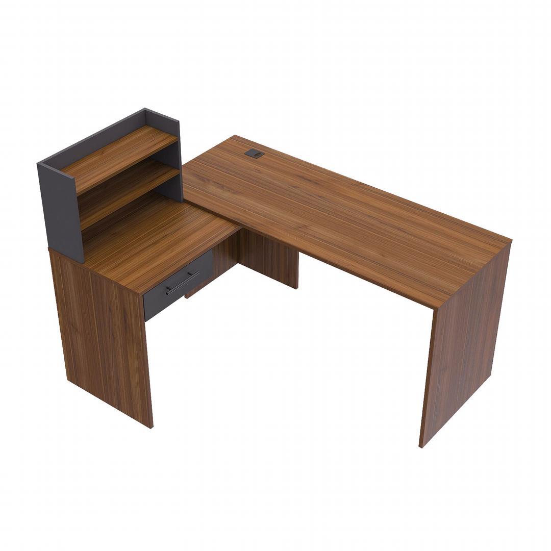 Bàn làm việc, bàn học gỗ hiện đại SMLIFE Dodie
