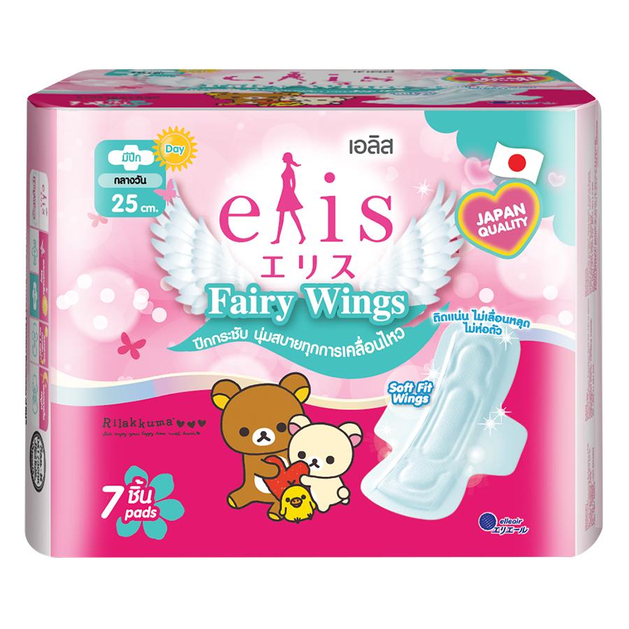 Băng Vệ Sinh Elis Fairy Wings MP 25 cm (7 Miếng / Gói)