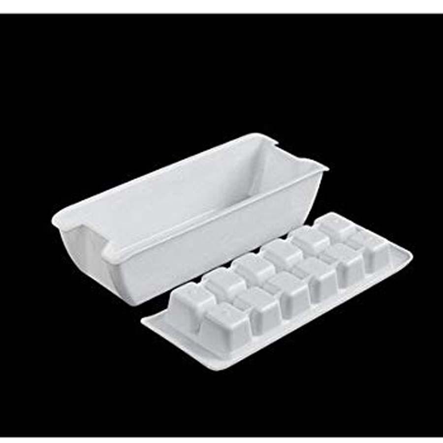 Bộ 2 khay trữ đông thức ăn, làm đá hai lớp an toàn hiệu quả K280 Nội địa Nhật Bản