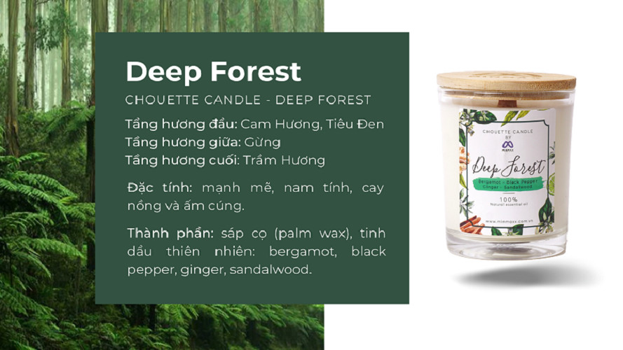 Ly nến thơm Chouette Candle CHC1003 Deep Forest 182g