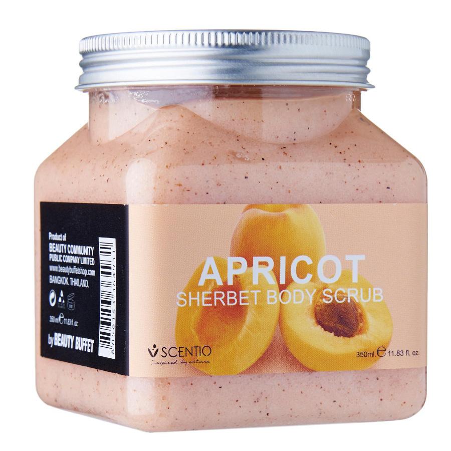 Tẩy Tế Bào Chết Toàn Thân Dưỡng Ẩm Chiết Xuất Quả Mơ Scentio Apricot 350ml