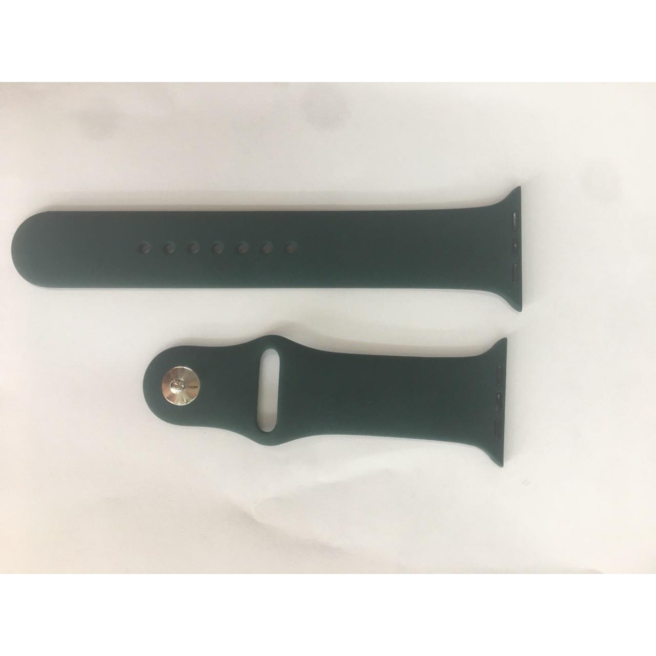 Dây silicon Thay Thế Đồng Hồ Apple Watch xanh lá cây thẫm 42mm/44mm