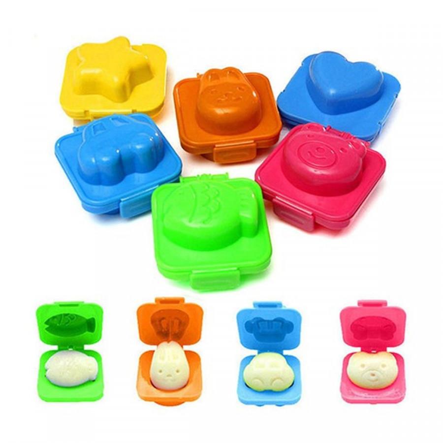 Bộ 6 khuôn cơm hình ngỗ nghĩnh tạo sự tò mò cho bé (nhựa ABS)