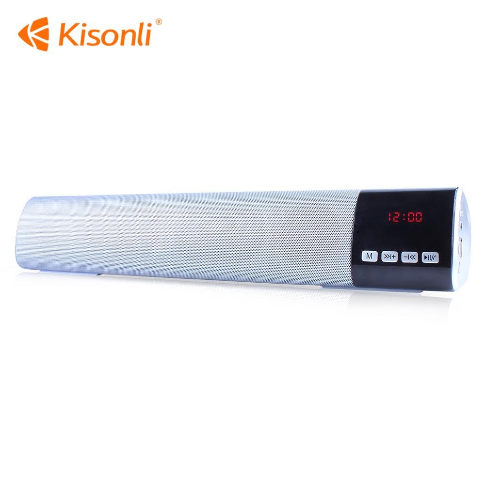 Loa mini Kisonli Bluetooth LED-800 Có Đồng Hồ Tích hợp FM, TF (Ngẫu Nhiên Màu) - HÀNG CHÍNH HÃNG