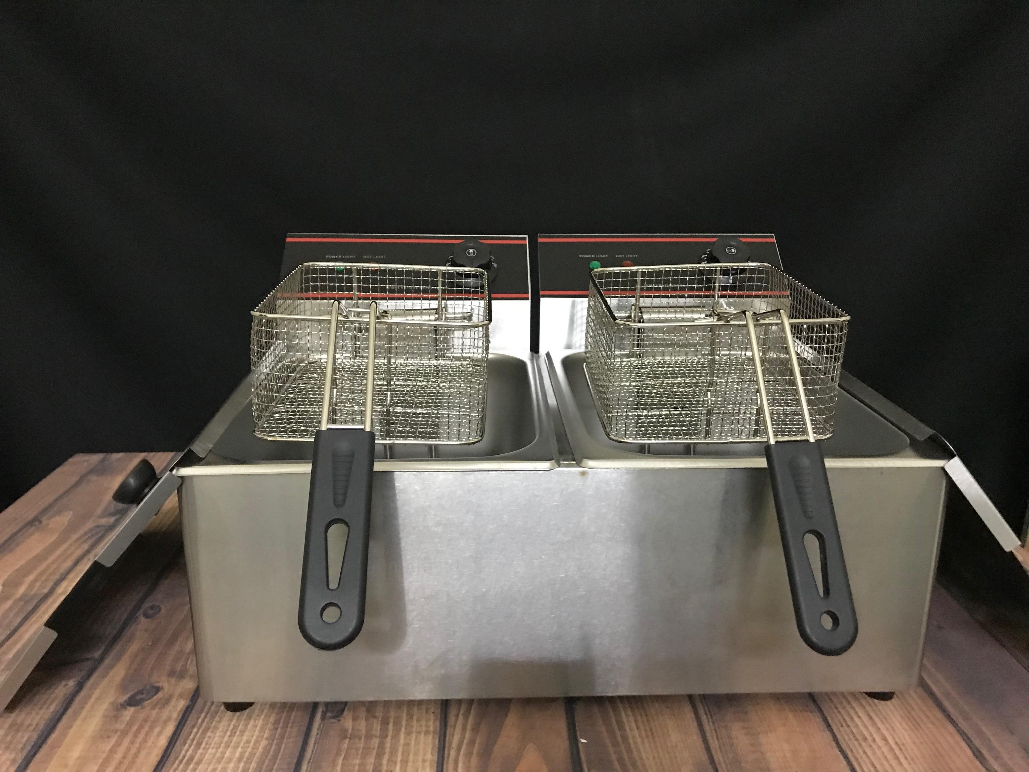 Bếp chiên nhúng điện đôi 12 lít