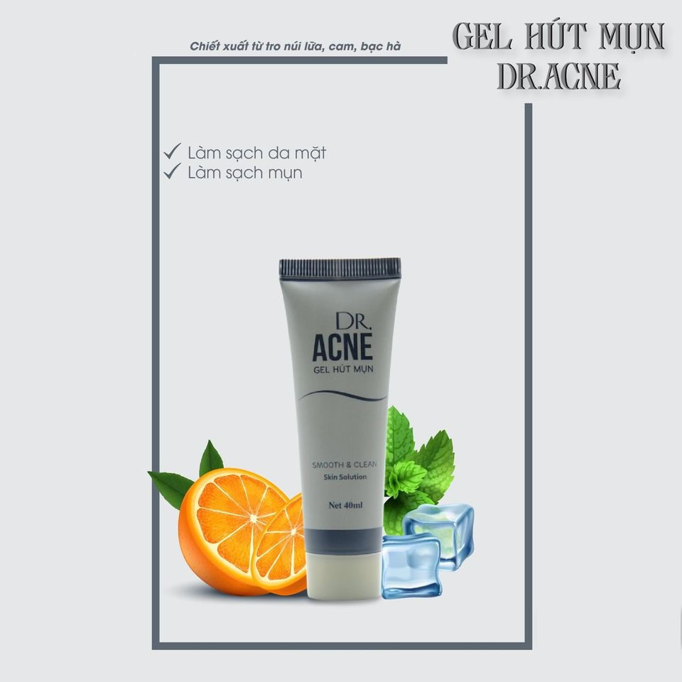 GEL HÚT MỤN TRO NÚI LỬA DR ACNE 40ml