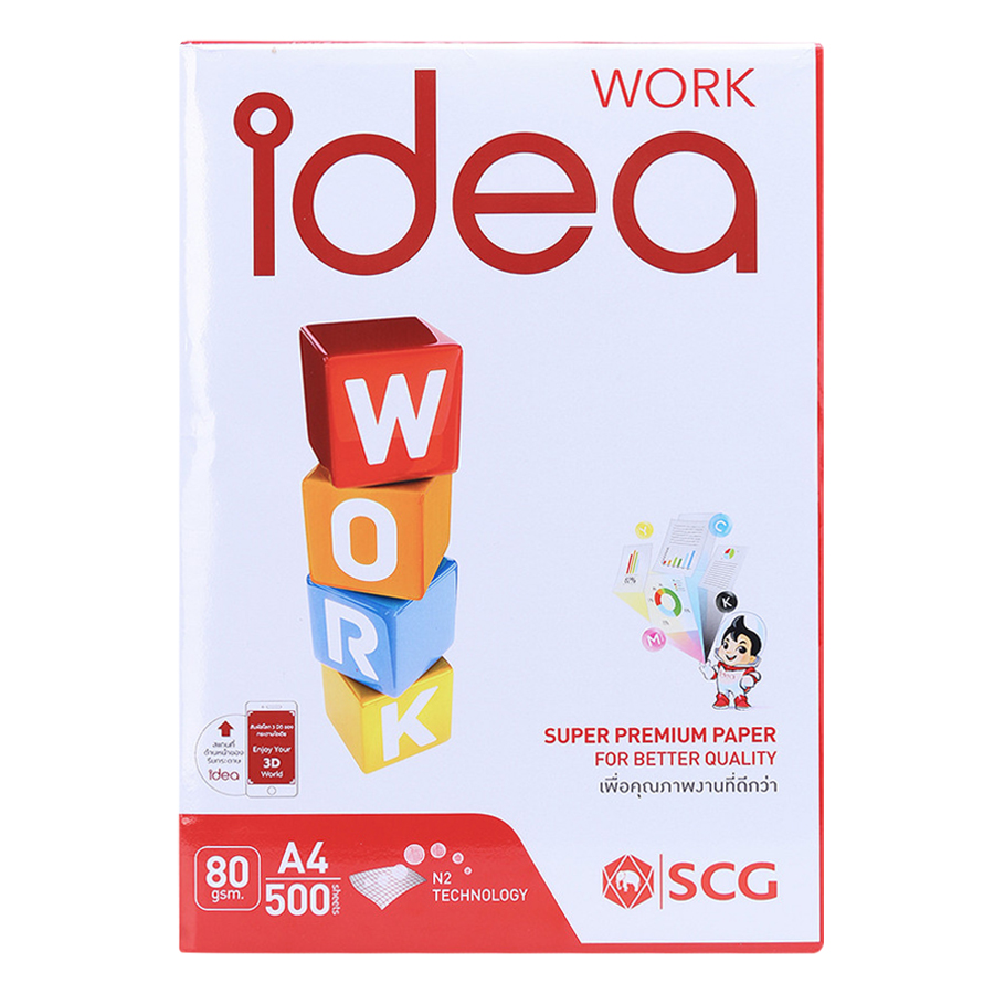 Thùng 5 Ream Giấy In Photo A4 Idea DL 80gsm