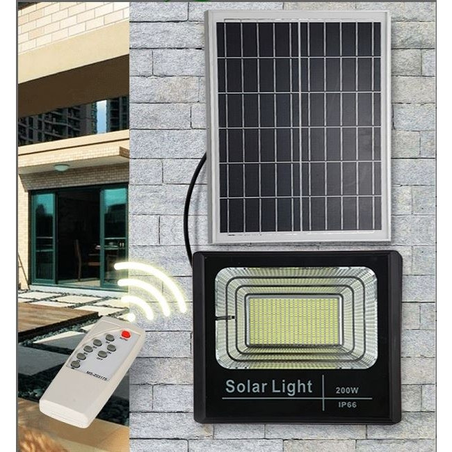 Đèn pha LED năng lượng mặt trời 200w IP66