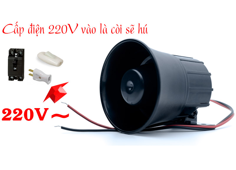 Còi Hú 220V - Công Suất Lớn KM-628