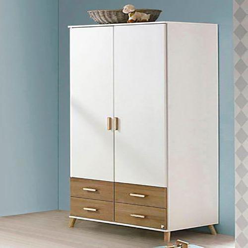 Tủ quần áo với thiết kế 2 cánh 4 ngăn vô cùng tiện lợi