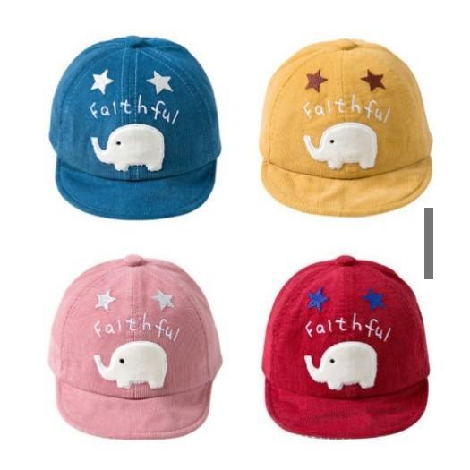 Mũ thêu hình chú voi xinh xắn cho bé trai/ bé gái