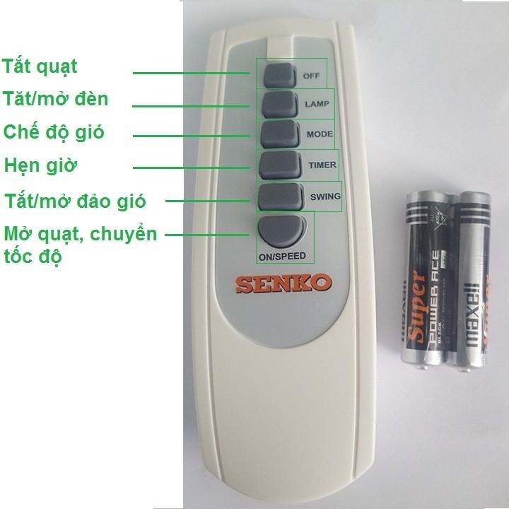 Remote Điều Khiển Từ Xa Cho Quạt SenkoTR1428, TR1628, DR1608 – Hàng Chính Hãng