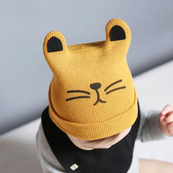 Mũ len cho bé, Nón len tai mèo ngộ nghĩnh cho bé trai bé gái