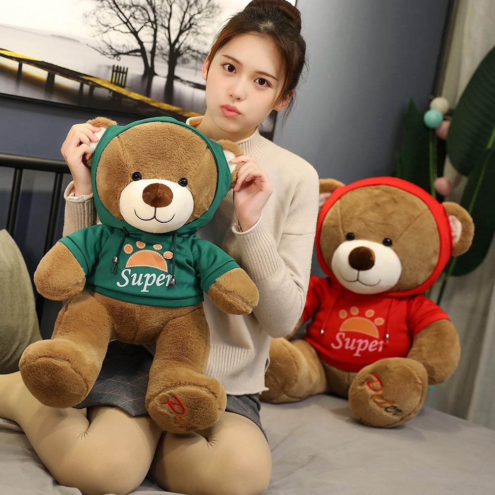Gấu bông Gấu nâu Peter mặc áo Hoodie 40cm