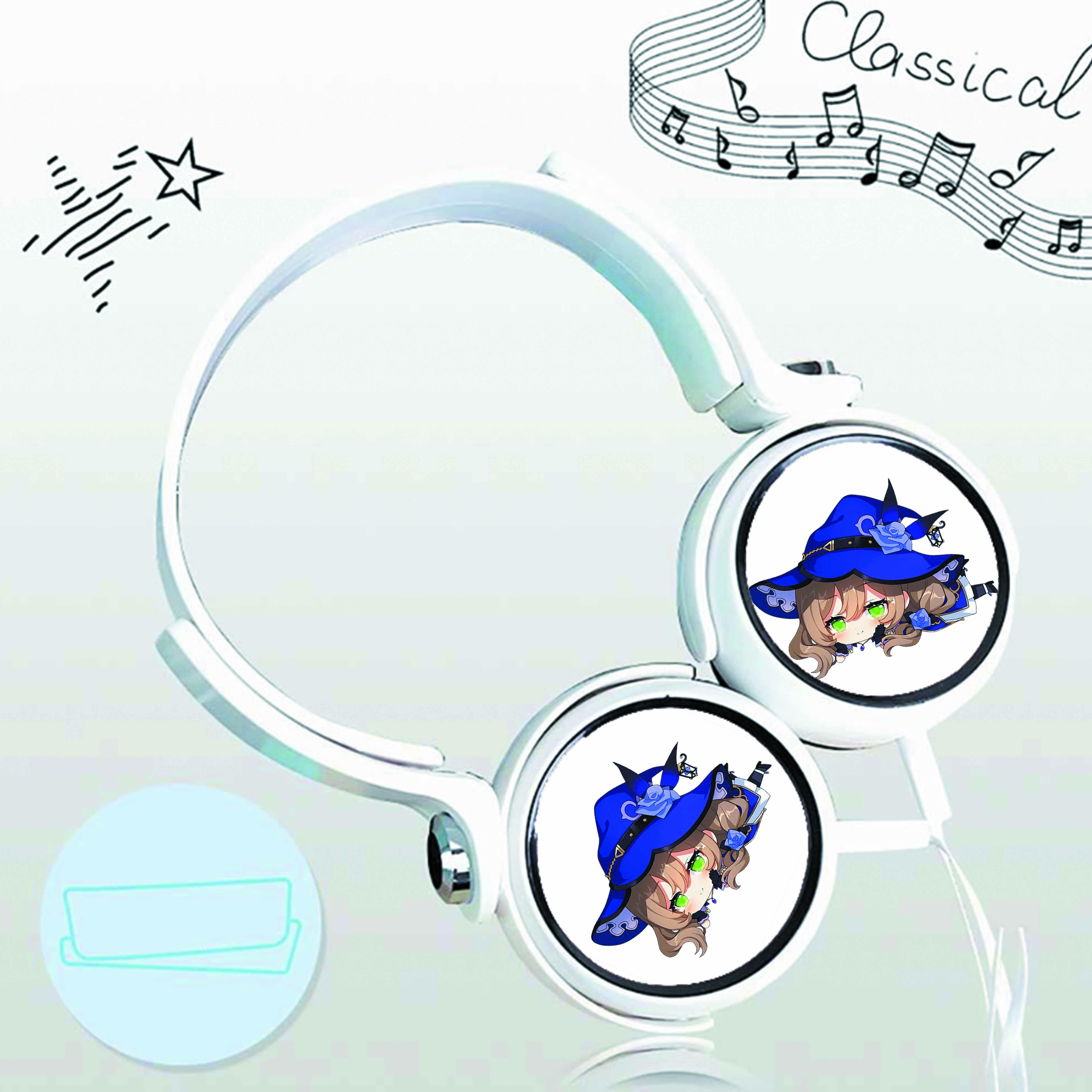 Tai nghe chụp IN HÌNH Genshin Impact game cắm dây có mic
