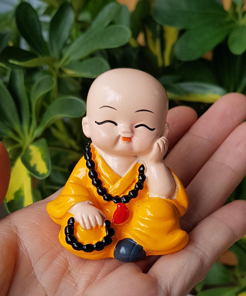 Bộ 04 chú tiểu Tứ Không đeo xâu chuỗi size 5cm - mẫu Việt Nam