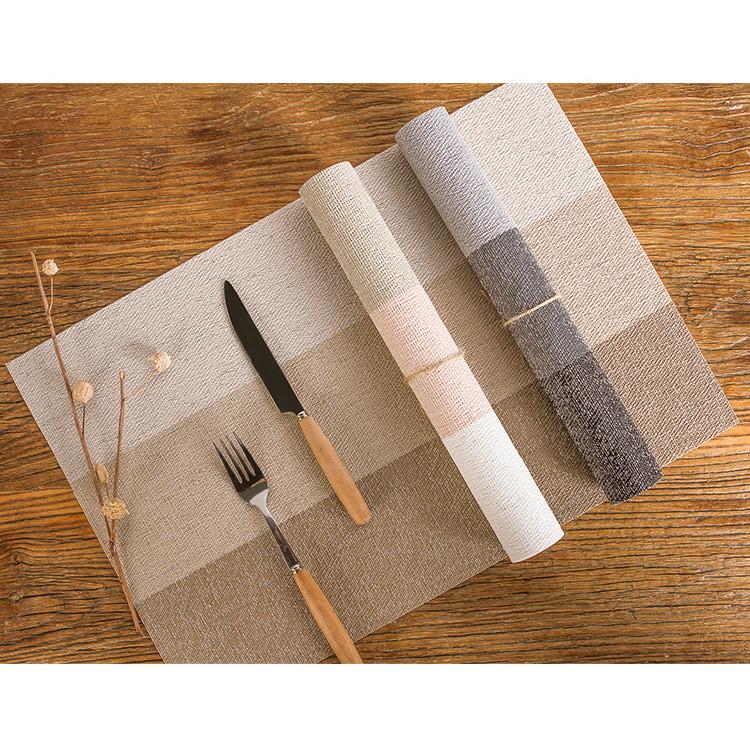 Couple 02 Miếng Lót Bàn Ăn Cao Cấp Lớn 45*30cm Bằng Nhựa Phong Cách Nhật Bản