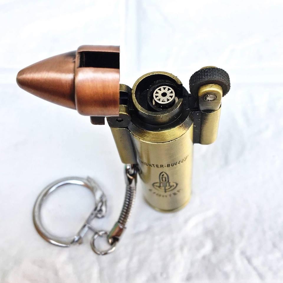 Bật Lửa Móc Khóa gas đá lửa khò kiểu viên đạn độc đáo