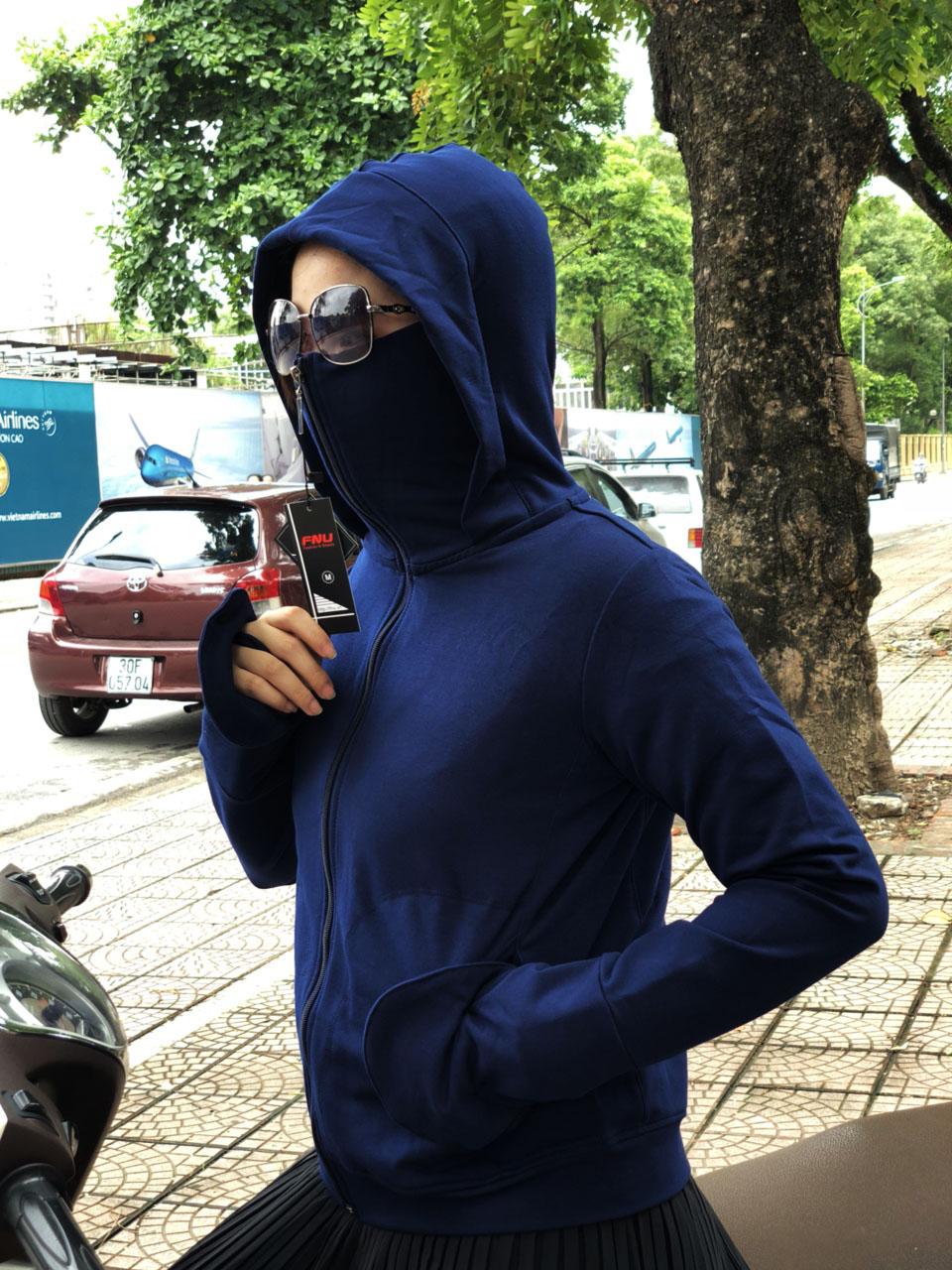 Áo khoác chống nắng nữ - Chống Tia UV (Có túi kéo khóa bên trong)