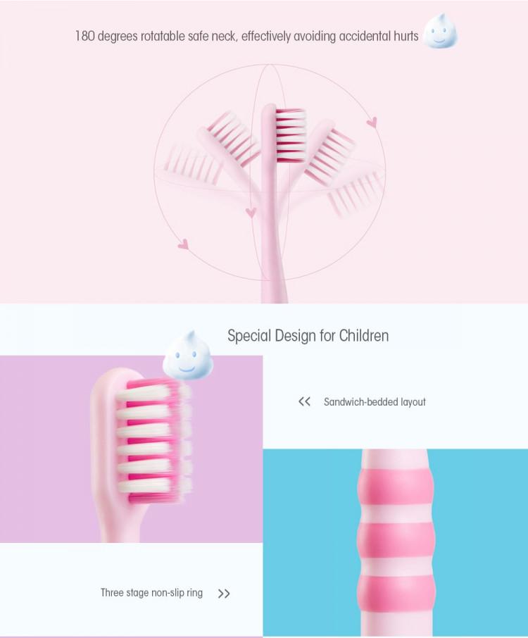 DOCTOR·B Cute Toothbrush for Children Kids 2PCS- Light Blue