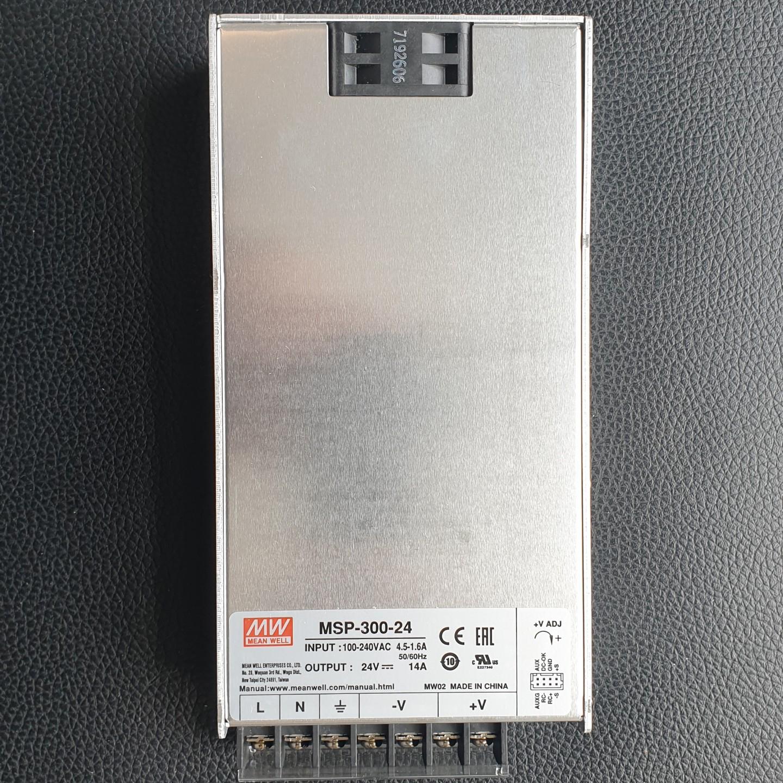 Nguồn MeanWell Công suất 300 W, Điện áp ra 24V, Model: MSP-300-24. Hàng chính hãng