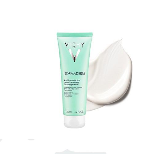 Sữa Rửa Mặt Tạo Bọt Ngừa Mụn & Làm Sạch Sâu Vichy Normaderm Anti-Imperfection Deep Cleansing Foaming Cream 125ml
