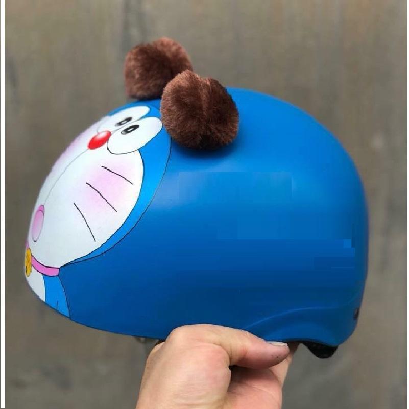 Combo mũ bảo hiểm 1/2  Doremon có tai