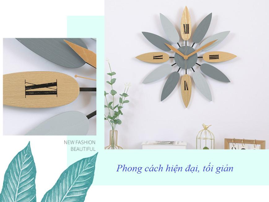 Đồng hồ gỗ treo tường trang trí nhà cửa A2-T2072