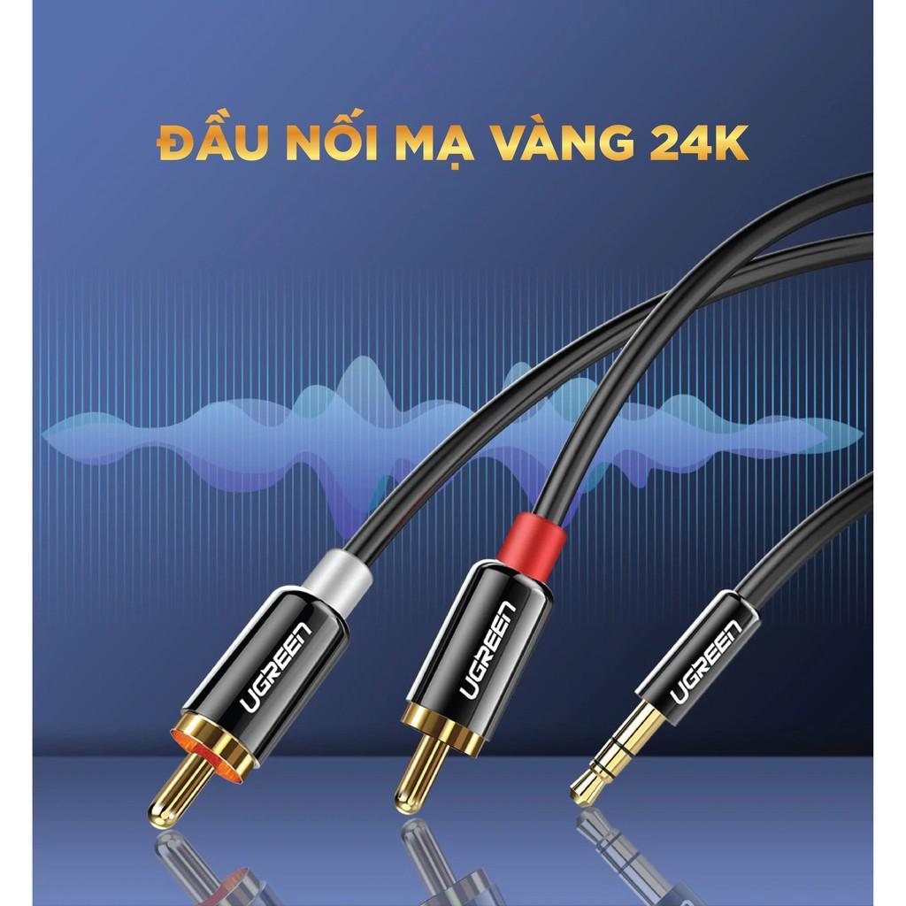 Dây Audio 3.5mm ra 2 đầu RCA (Hoa sen) UGREEN AV116 - Hàng chính hãng