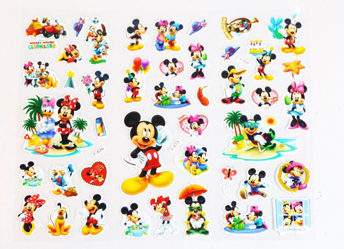 Set 5 Sticker Dán Trang Trí Hoạt Hình Mickey