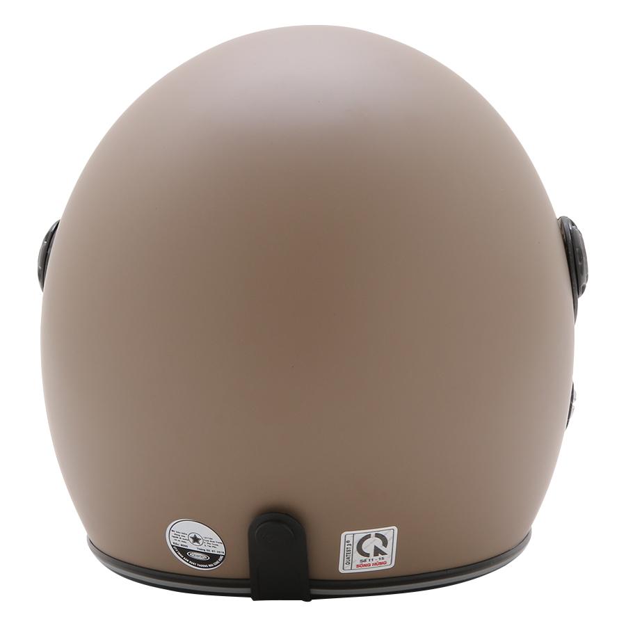 Mũ Bảo Hiểm 3/4 Đầu Napoli N099 Có Kính Màu Nâu - Kính Khói