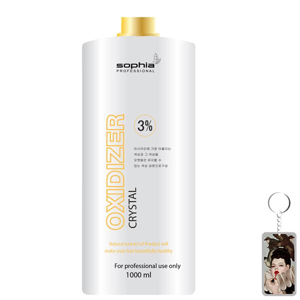 Oxy trợ nhuộm 3% Sophia Oxydizer Crystal Hàn Quốc 1000ml tặng kem móc khóa