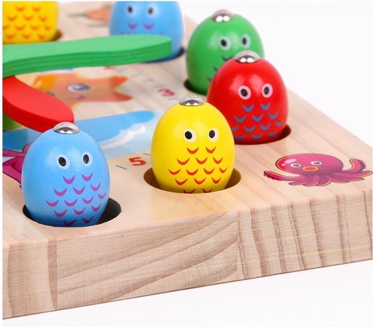 Đồ chơi gỗ - Đồng hồ câu cá vuông G612