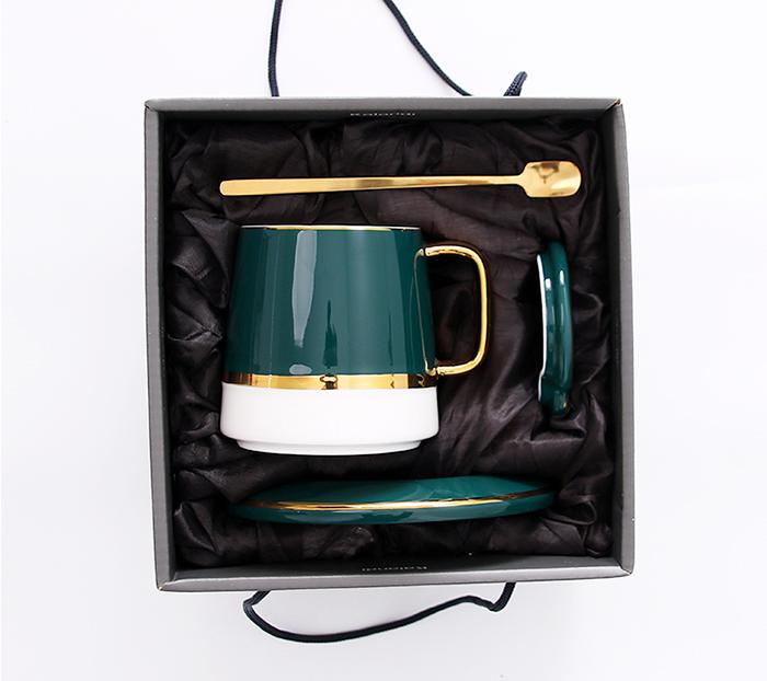 Bộ tách trà cà phê gốm sứ cao cấp - Hộp quà tặng sang trọng