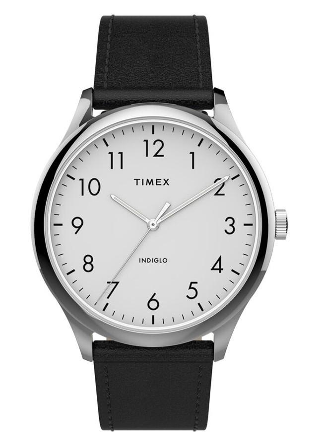 Đồng Hồ Nam Dây Da Timex Easy Reader 40mm Leather Strap Watch TW2T71800 - Màu Đen