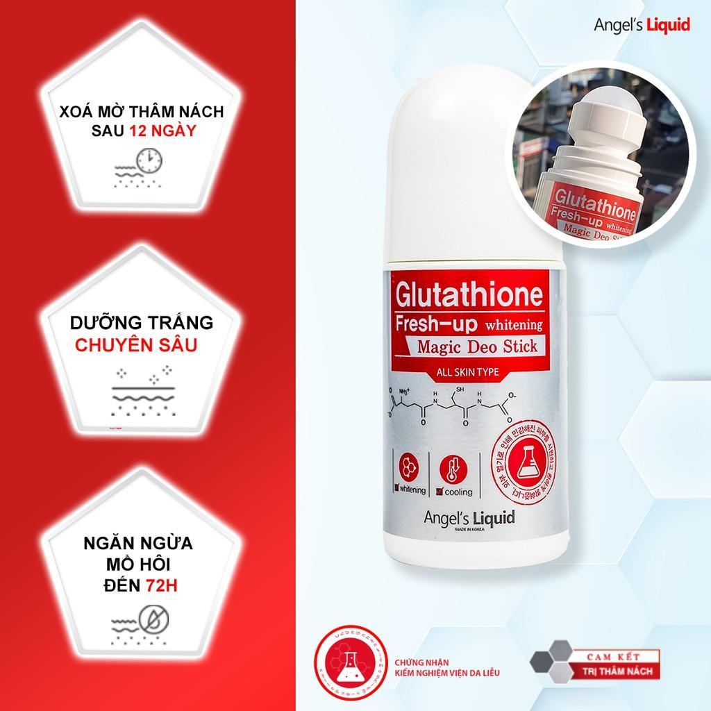 Lăn Nách Mờ Thâm, Dưỡng Trắng Da Angel's Liquid Glutathione Plus Niacinamide Fresh Deodorant 60ml