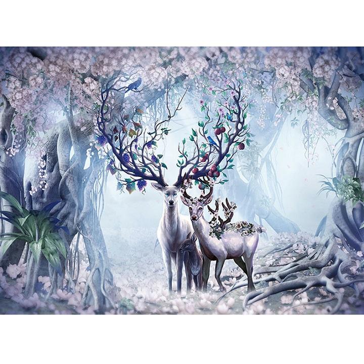 Tranh ghép hình 1000 mảnh bằng gỗ- Thần rừng buổi đêm