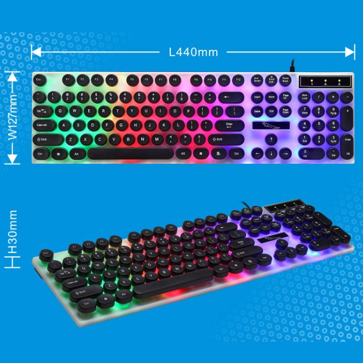 Bàn phím giả cơ nút tròn G21 - 2019 LED chế độ 7 màu siêu đẹp và sang trọng