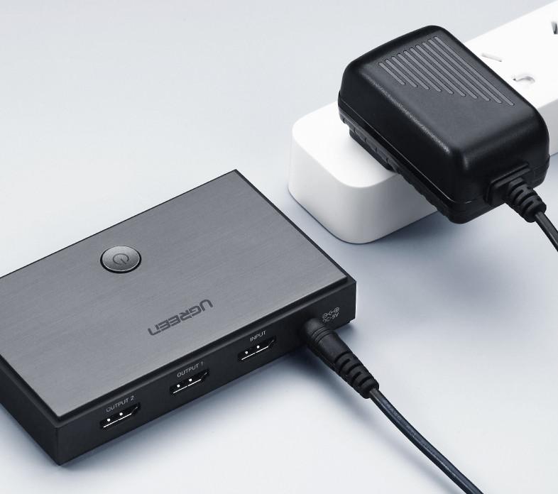 Bộ chia HDMI 1 ra 2 HDMI 2.0 chính hãng Ugreen 50707