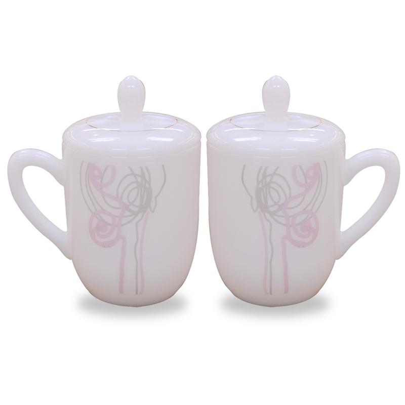 Bộ đôi ca trà có nắp thủy tinh ngọc MP USA Homeset