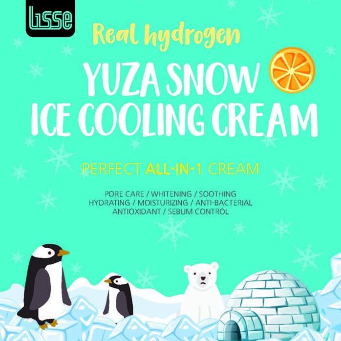 Lisse Real Hydrogen Yuza Snow Ice Cream ( Kem Yuza Tuyết Cấp Ẩm)