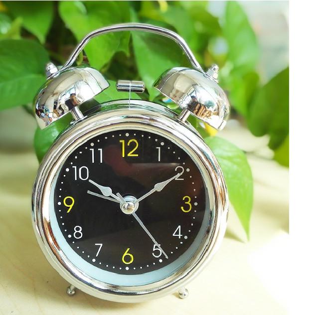 Đồng hồ báo thức inox kim trôi