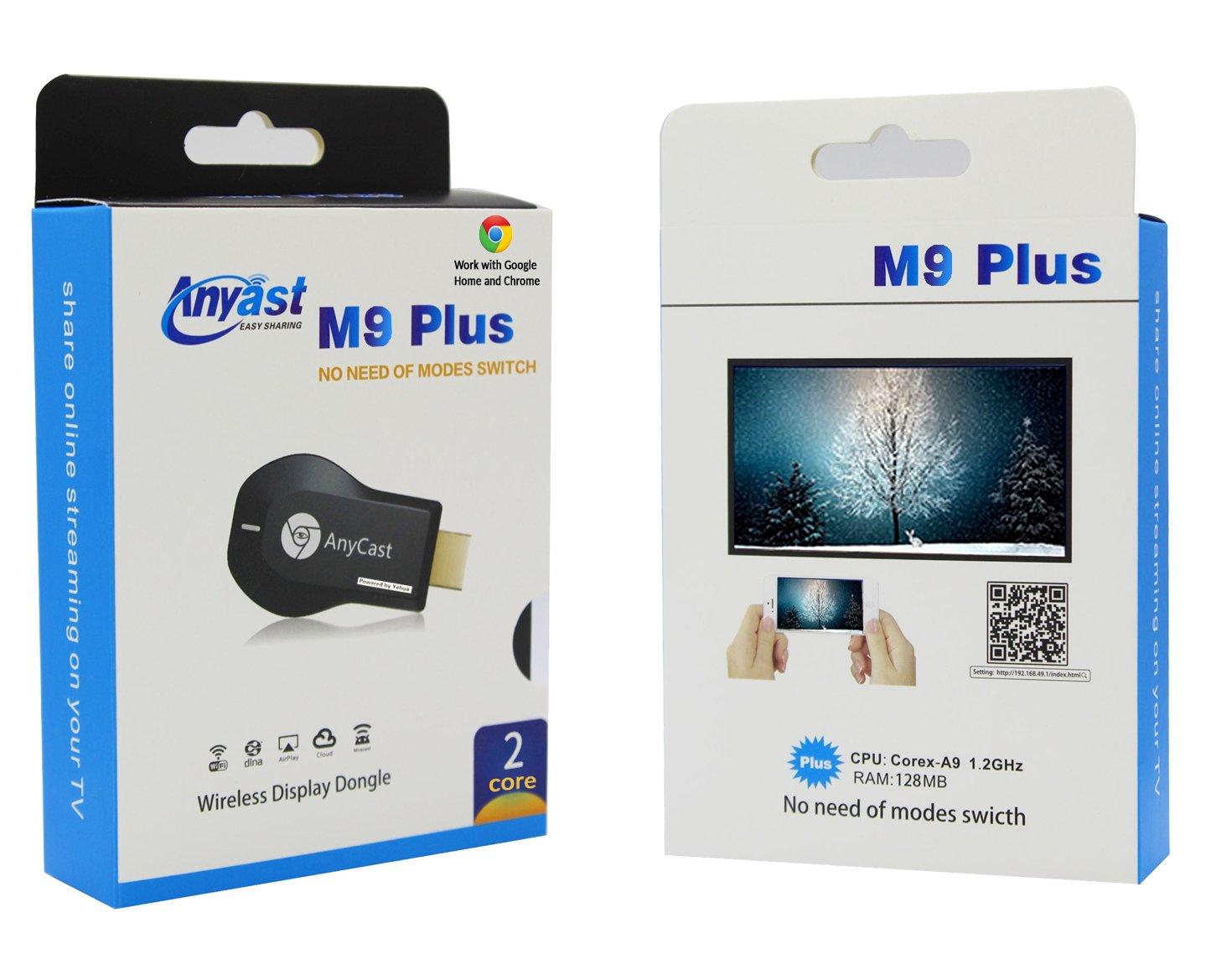 Kết nối điện thoại sang tivi không dây Anycast M9 Plus