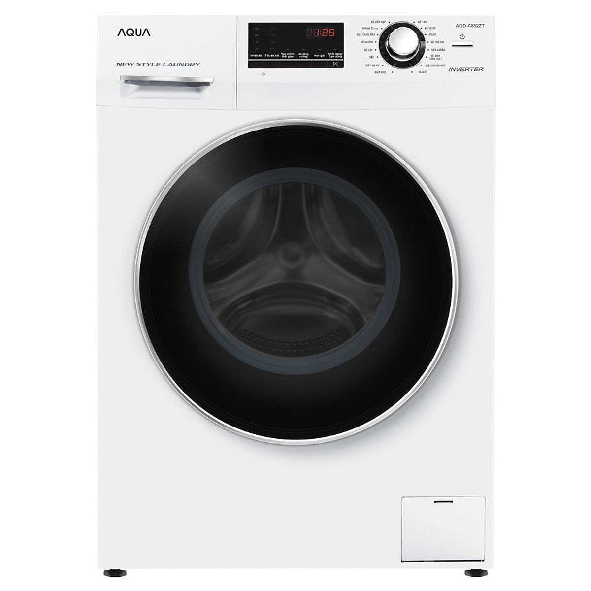 Máy giặt Aqua 10 Kg AQD-D1000A - Hàng Chính Hãng + Tặng Bình Đun Siêu Tốc