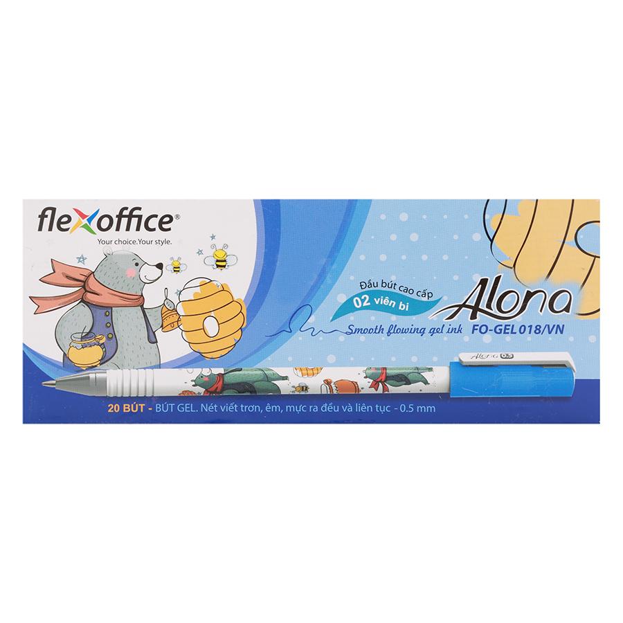 Hộp 20 Cây Bút Gel Flexoffice Fo-Gel018/Vn